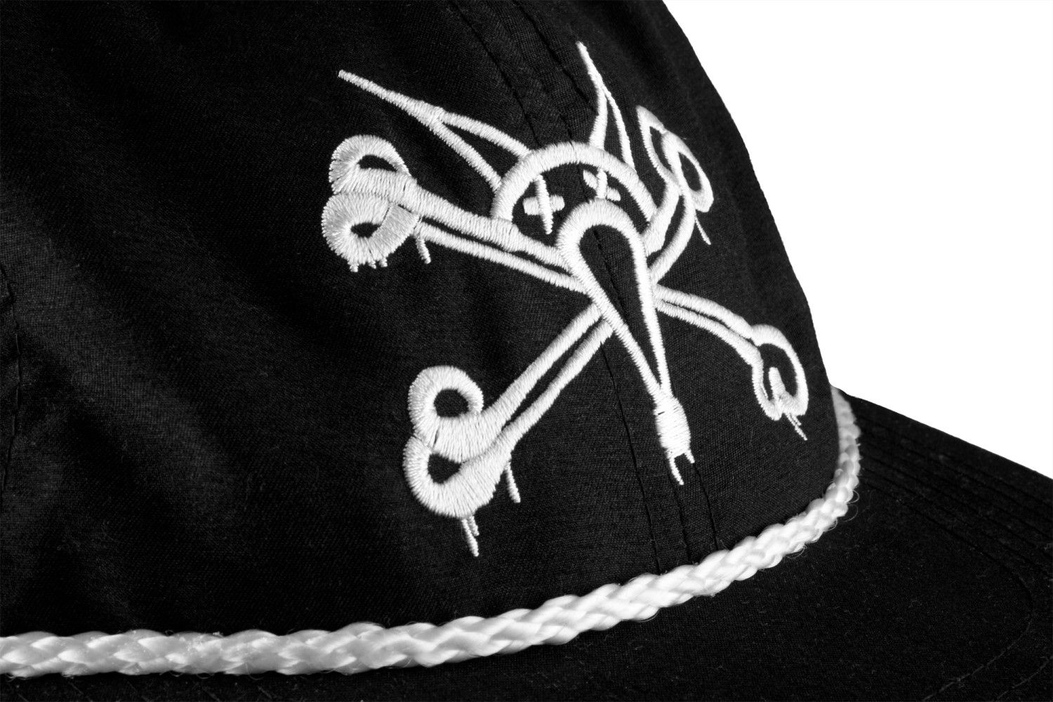 A cap with the Bones Wheels Skull Logo.