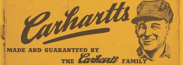 Bereits 1889 wurde Carhartt in Detroit als Workwear Hersteller gegründet. Hier eine Werbung aus den Anfängen der Company.