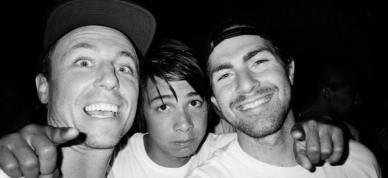 Una parte del team della Girl Skateboards con Sean Malto e MikeMo Capaldi.