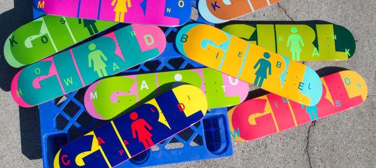 Tavole della Girl Skateboards.