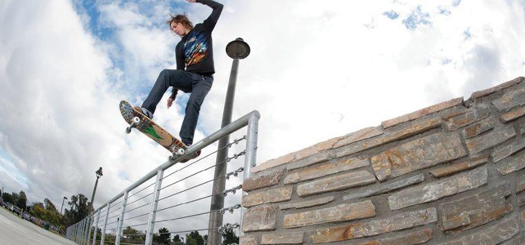 Lakai pro skater Riley Hawk.