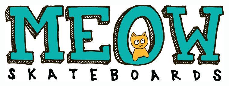 Das Logo von Meow Skateboards.
