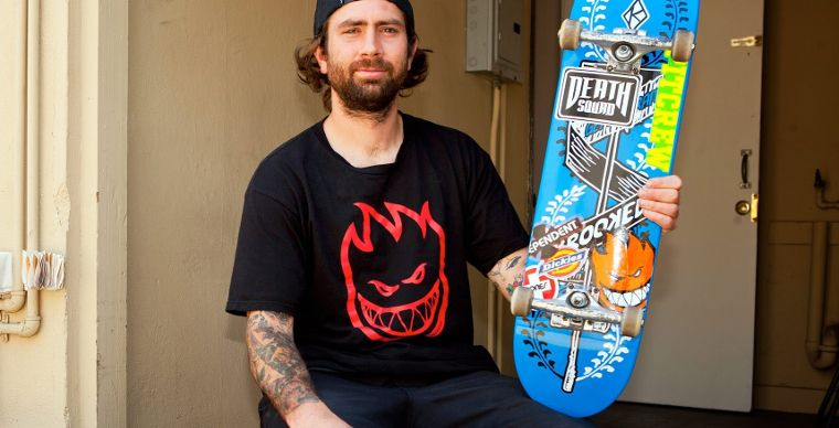Spitfire's Bobby Worrest with his setup.