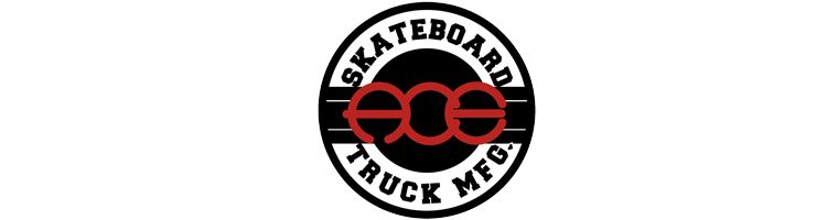The logo of Ace Trucks.