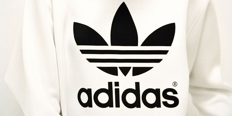 A sweatshirt with the adidas logo.