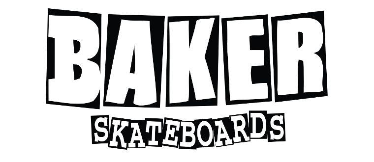 Das Logo von Baker Skateboards.