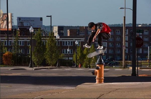 Bones Wheels team rider Trent McClung with a BS Flip.