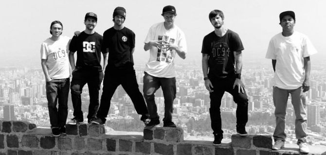 The DC Shoes team with Davis Torgerson, Mike Mo Capaldi, Matt Miller, Wes Kremer, Chirs Cole and Felipe Gustavo.
