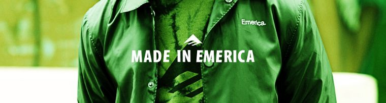Emerica's logo and slogan.