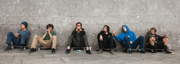 Part of the Etnies skate team: Willow, Chris Joslin and Trevor McClung.