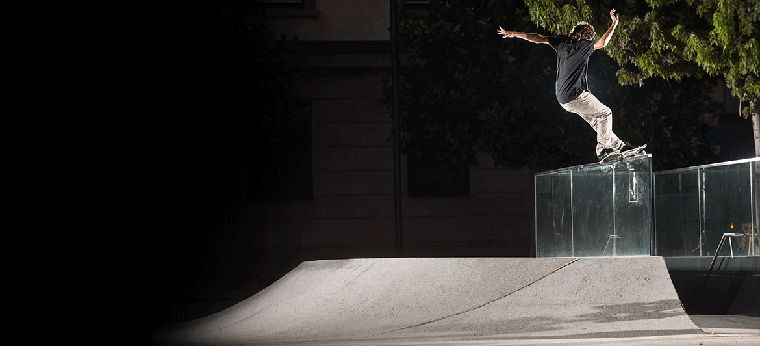 Etnies team rider Trevor Mc Clung with a Smith grind.