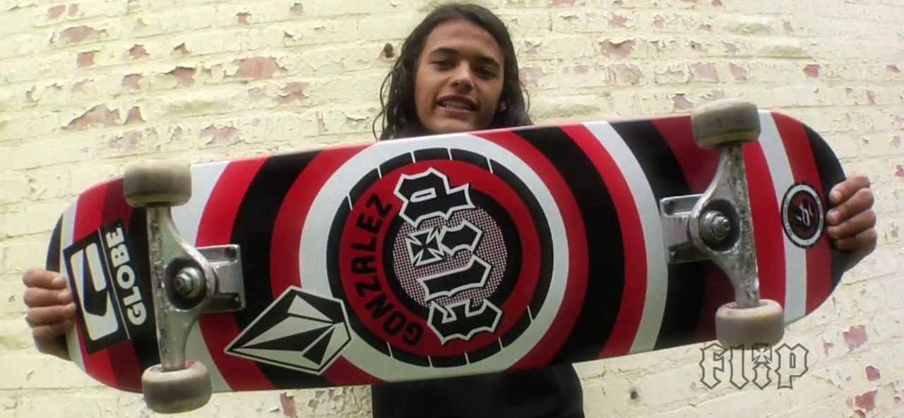 Flip Skateboards team rider David Gonzalez with a P2 deck.