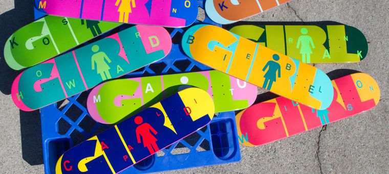 Decks von Girl Skateboards.