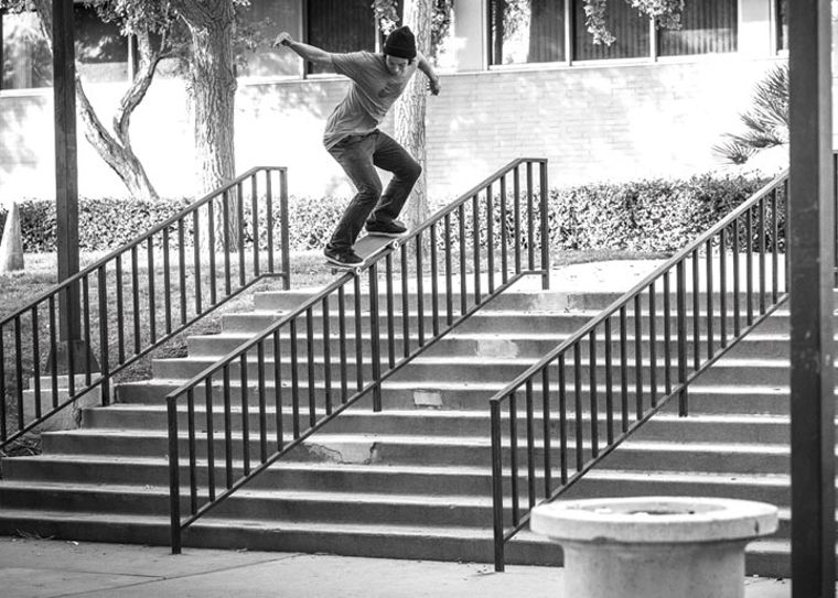 Girl team rider Sean Malto with a 50-50.