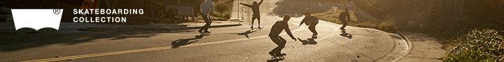 Levi's Skateboarding, skater downhill.