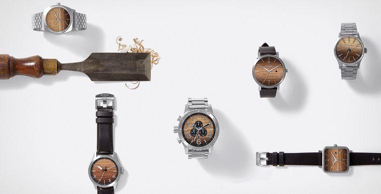 Eine Auswahl an Nixon Uhren.