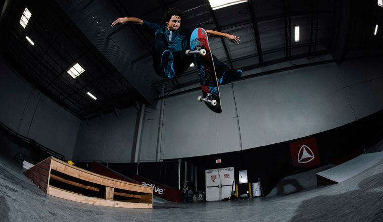 Primitive Skateboards founder P-Rod with a Treflip.