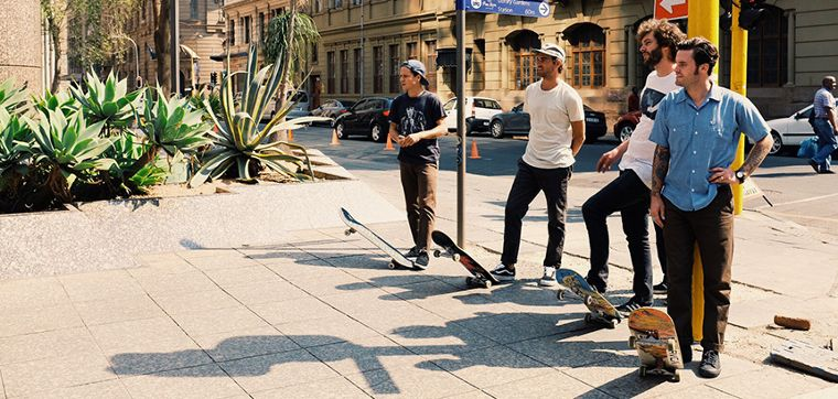 The RVCA skate team in South Africa.