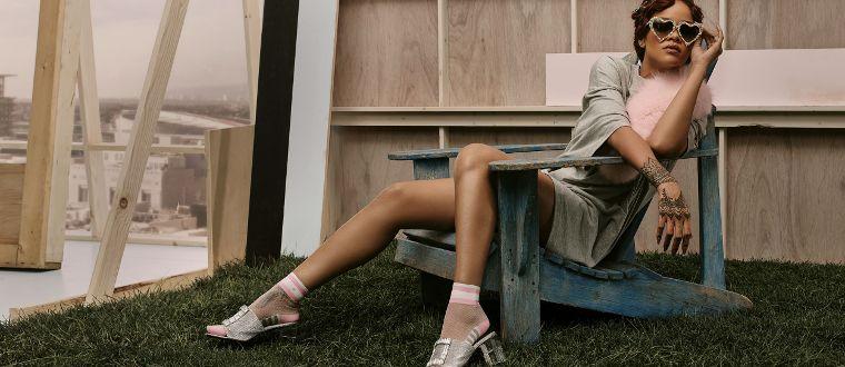 Rihanna in her Stance socks.