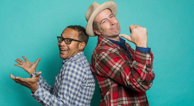 Die Pro-Skater und Gründer von Stereo Chris Pastras und Jason Lee.
