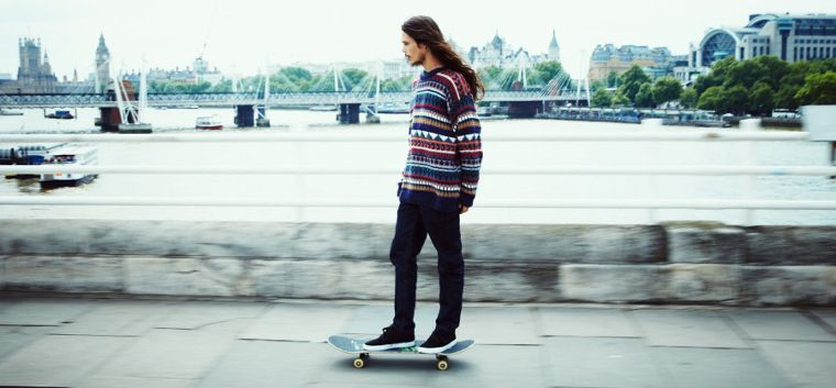 Team rider Dee Ostrander pushing through London.