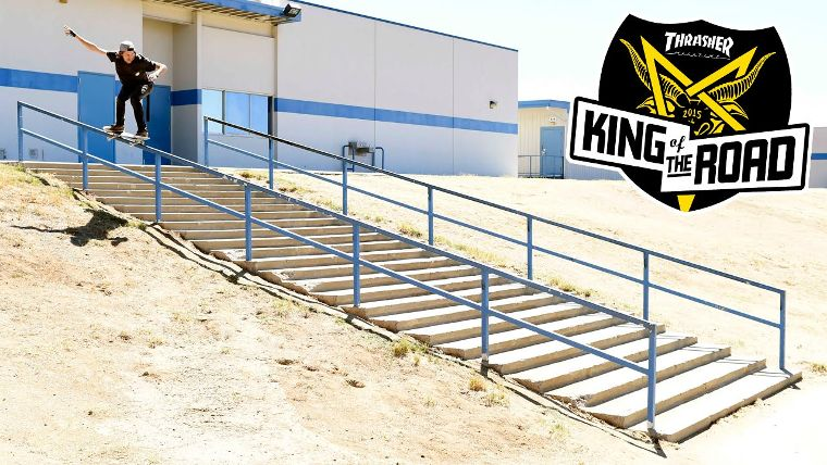 Aaron Jaws Homoki with a 50-50 on the King of the Road Tour from Thrasher.