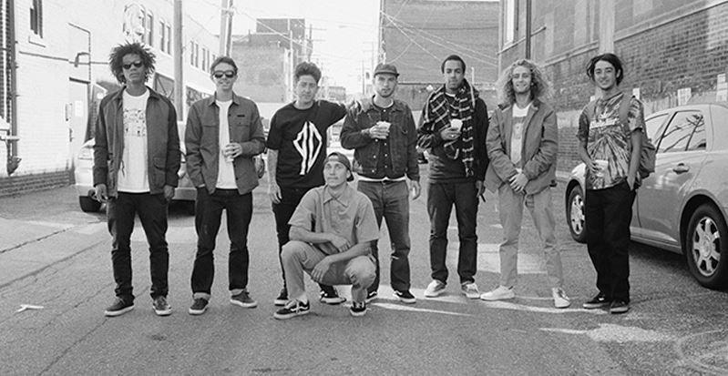 "The Vans skate team in a promo photo for the skate video ""Propeller."